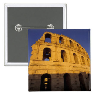 África, Túnez, EL Jem. Ruinas de 3 romanos Pin Cuadrada 5 Cm