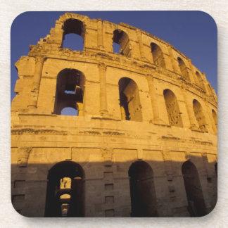 África, Túnez, EL Jem. Ruinas de 3 romanos Posavasos De Bebida
