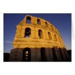 África, Túnez, EL Jem. Ruinas de 3 romanos Tarjeta De Felicitación