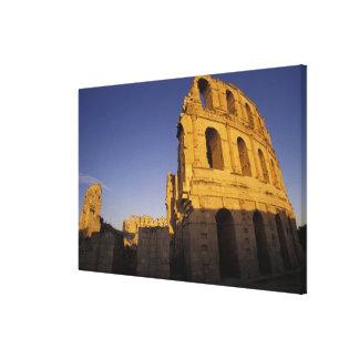 África, Túnez, EL Jem. Ruinas de un romano Impresion En Lona