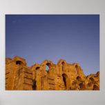 África, Túnez, EL Jem. Ruinas de un romano Poster