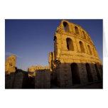 África, Túnez, EL Jem. Ruinas de un romano Tarjeta De Felicitación