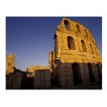 África, Túnez, EL Jem. Ruinas de un romano Tarjeta Postal