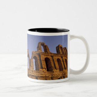 Africa, Tunisia, El Jem. Ruins of a Roman 2 Two-Tone Coffee Mug