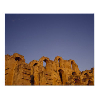 Africa, Tunisia,  El Jem. Ruins of a Roman Posters
