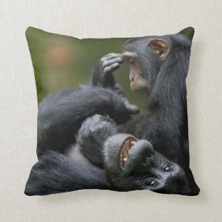 Africa, Uganda, Kibale Forest Reserve, Juvenile 2 Throw Pillow