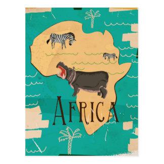 Africa Vintage Travel Poster Postcard