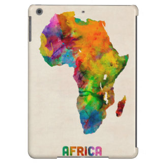 Africa Watercolor Map Case For iPad Air