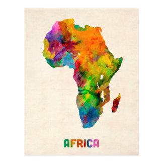 Africa Watercolor Map Flyer