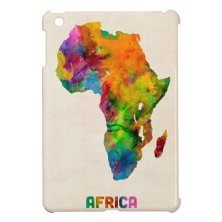 Africa Watercolor Map Case For The iPad Mini