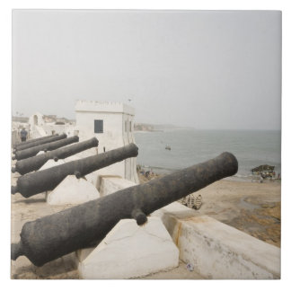 Africa, West Africa, Ghana, Elmina. Canons gaurd Ceramic Tile