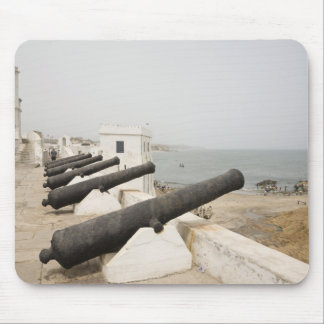 Africa, West Africa, Ghana, Elmina. Canons gaurd Mouse Pad