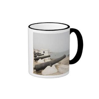 Africa, West Africa, Ghana, Elmina. Canons gaurd Ringer Coffee Mug