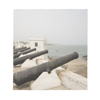 Africa, West Africa, Ghana, Elmina. Canons gaurd Notepad