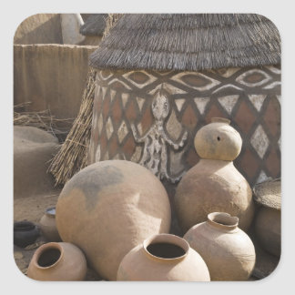 Africa, West Africa, Ghana, Sirigu. Handcrafted Square Sticker