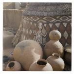 Africa, West Africa, Ghana, Sirigu. Handcrafted Tile