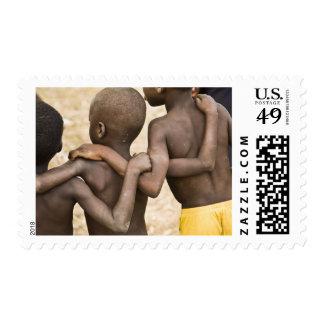 Africa, West Africa, Ghana, Yendi. Close-up shot Stamps