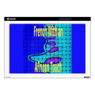 Africa with a French 17 Inch Laptop Skin Template