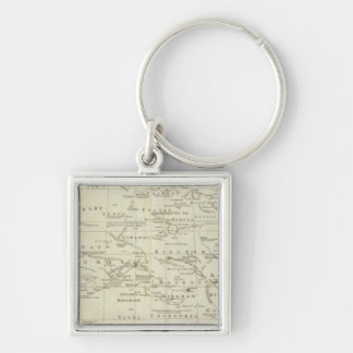 Africa, with all its kingdoms and states Silver-Colored square keychain
