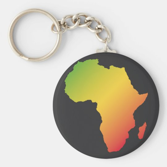 Africa with black background keychain