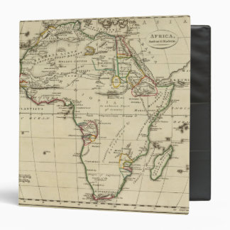 Africa with boundaries outlined binder