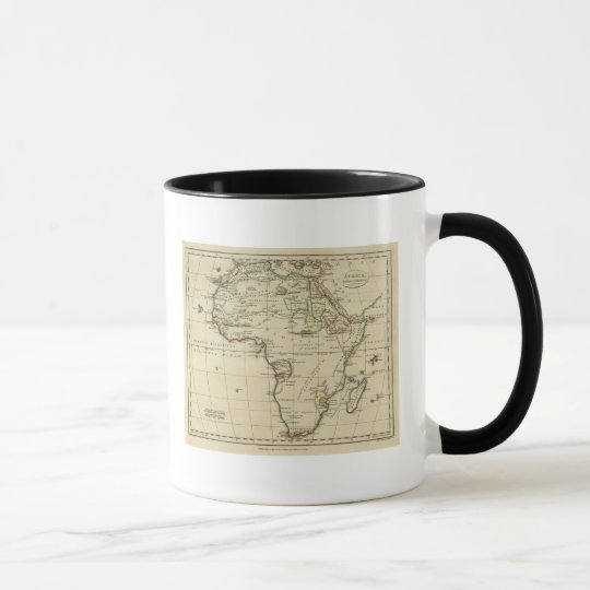 Africa with boundaries outlined mug