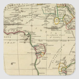 Africa with boundaries outlined square sticker