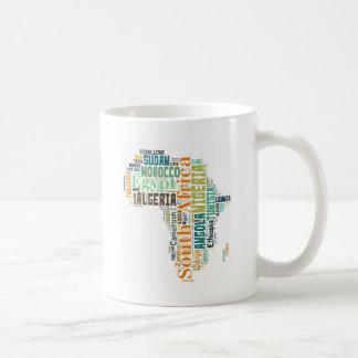 Africa Word Art Coffee Mug
