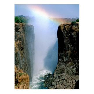 África, Zambia, parque nacional de las cataratas Postal