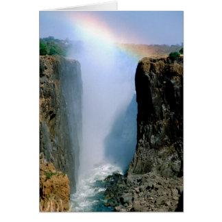 África, Zambia, parque nacional de las cataratas V Tarjeta De Felicitación