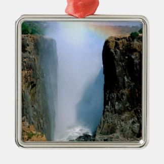 Africa, Zambia, Victoria Falls National Park. Metal Ornament