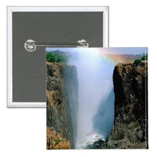 Africa, Zambia, Victoria Falls National Park. Pinback Button