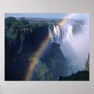 África, Zimbabwe. Las cataratas Victoria Posters