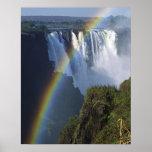 África, Zimbabwe, las cataratas Victoria Póster