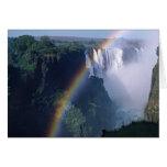 África, Zimbabwe. Las cataratas Victoria Felicitación