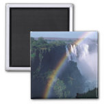 Africa, Zimbabwe. Victoria Falls 2 Inch Square Magnet