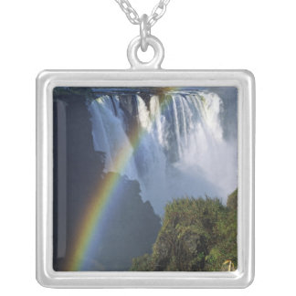 Africa, Zimbabwe, Victoria Falls Square Pendant Necklace