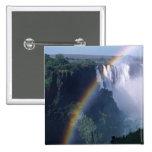 Africa, Zimbabwe. Victoria Falls Pinback Buttons