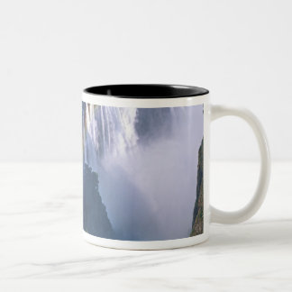 Africa, Zimbabwe. Victoria Falls Two-Tone Coffee Mug