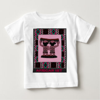 African 1st - Tribal effigy - Aftrican Art Baby T-Shirt