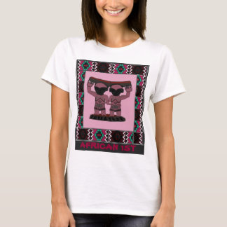 African 1st - Tribal effigy - Aftrican Art T-Shirt