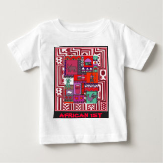 African 1st - Village life - Aftrican Art Baby T-Shirt