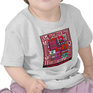 African 1st - Village life - Aftrican Art T-shirts