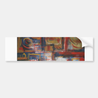 African Abstract Art - Squares & Circles Bumper Sticker