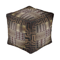 African  Abstract Mud Cloth Pattern Pouf