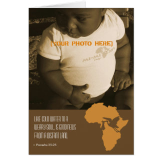African Adoption - Announcement Cards