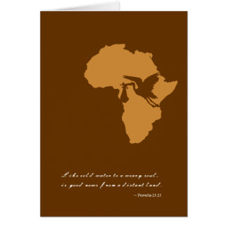 African Adoption Announcement Cards