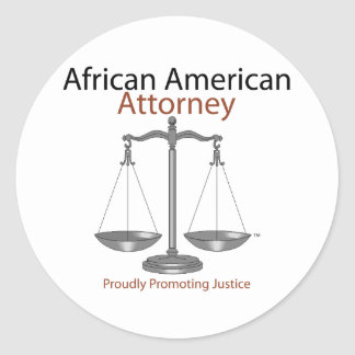 African America Attorney Classic Round Sticker