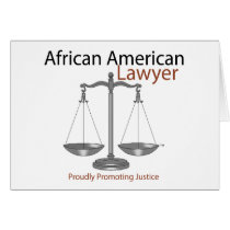 African America Lawyer Card