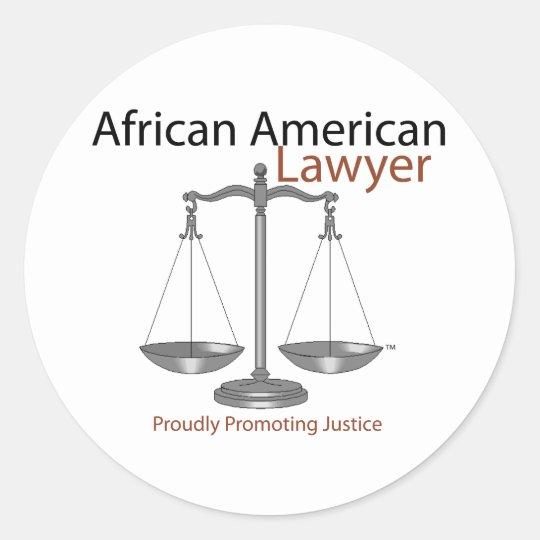 African America Lawyer Classic Round Sticker